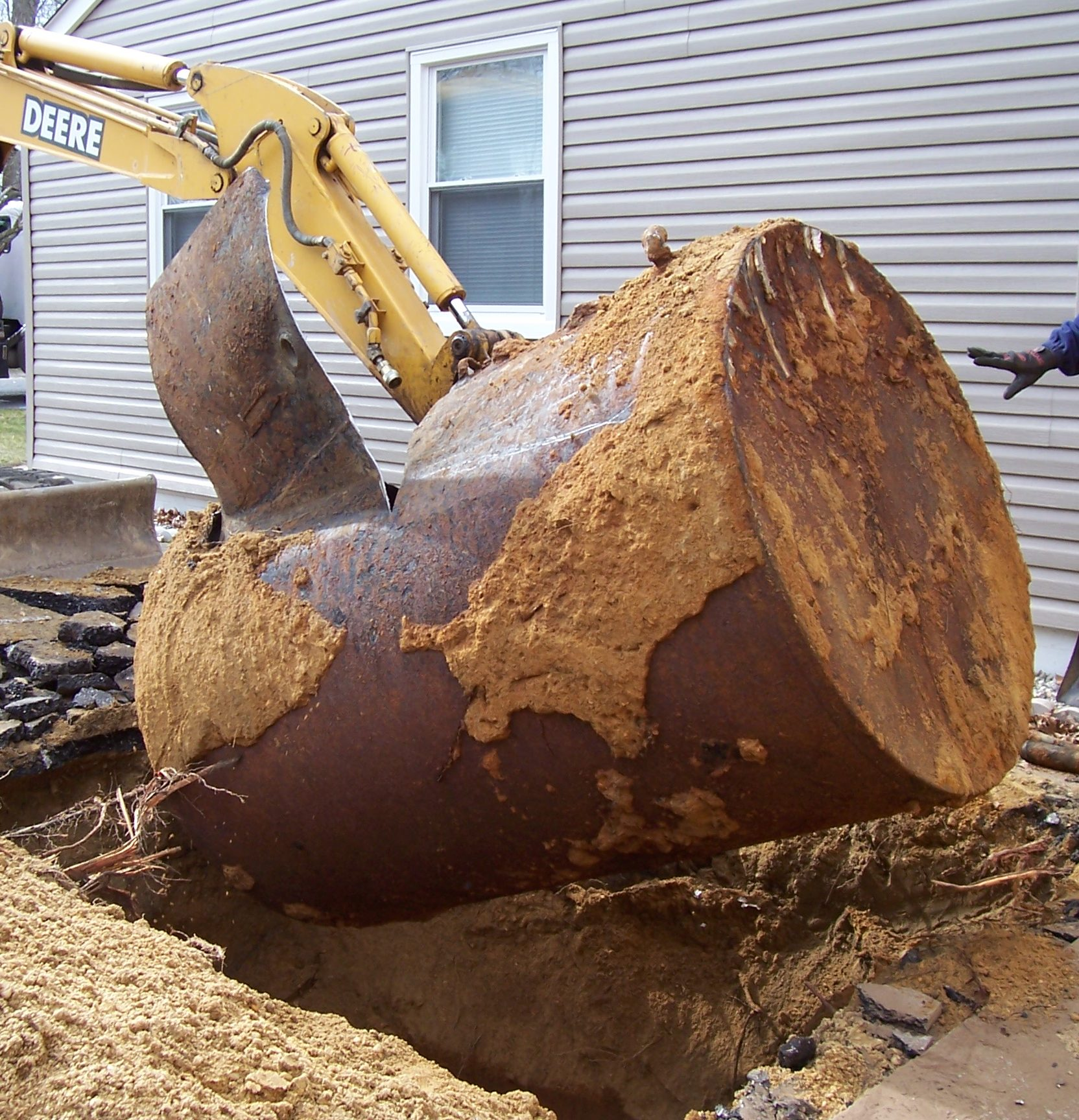 Removal of an underground storage tank at a private residence