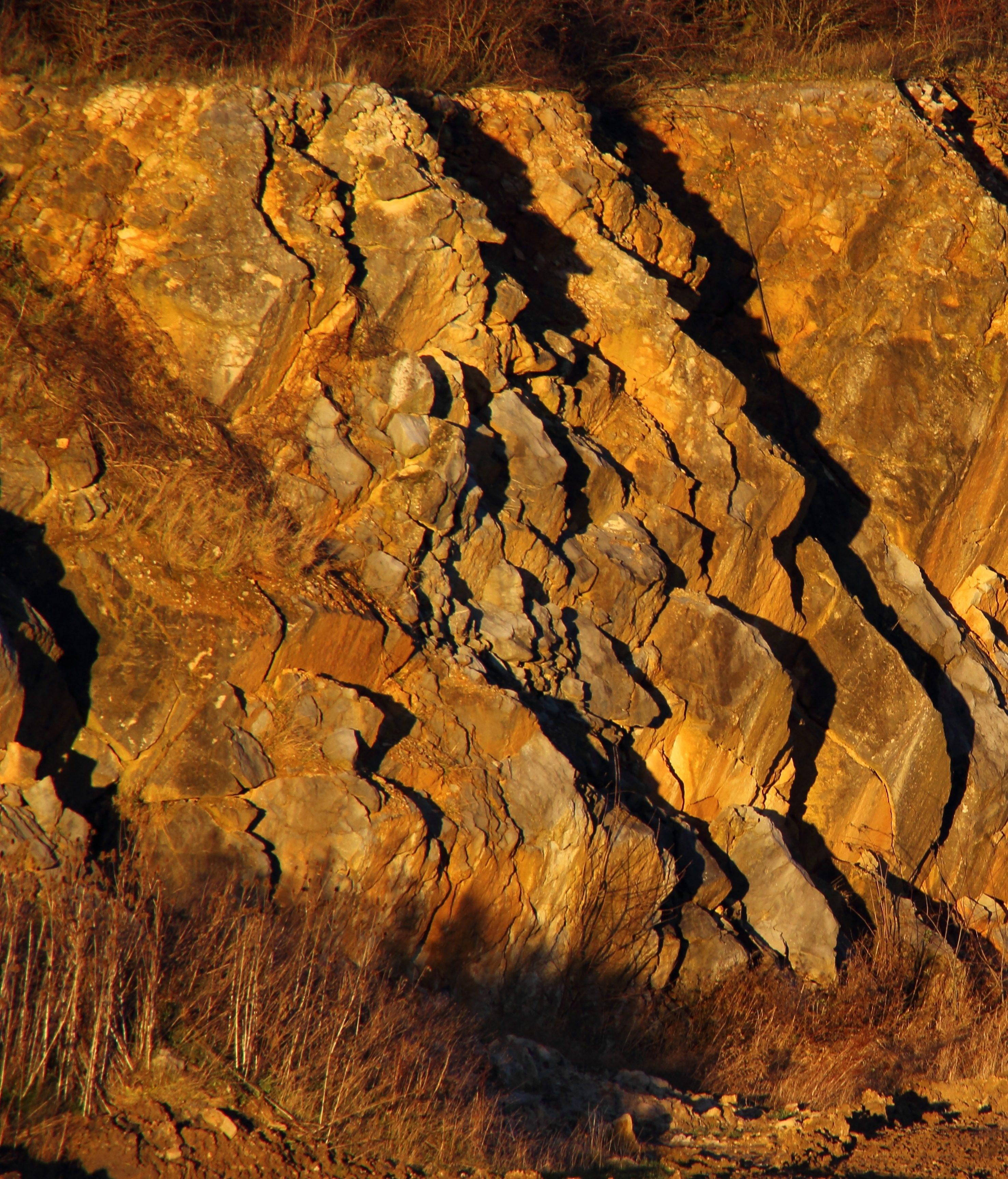 Exposed bedrock