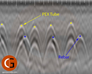Concrete Imaging Data of PEX Tubes