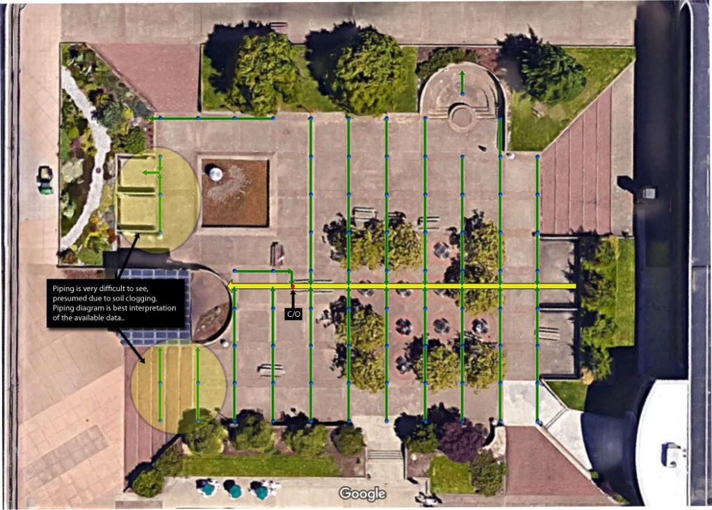 Courtyard Drain Map