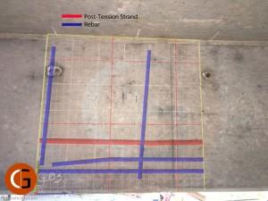 3D GPR data on beam